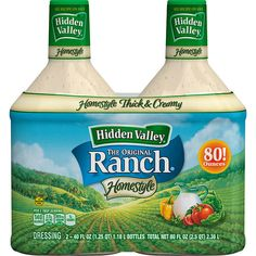 Hidden Valley Original Ranch Dressing, 40 fl oz, Gluten free Sugar Sat sat Homestyle thick & creamy No MSG Ranch Dressing, Salad Dressing, Types Of Sauces, Kitchen Appliance Packages, Pantry, The Originals, House Styles, Food, Count