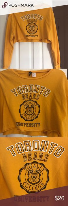 527ec8373006dd H&M Toronto Bears pullover cropped sweater shirt Amazing condition. Size:  medium (good quality shirt) Willing to negotiate . send me a price!
