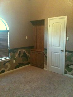 Boys wanted me to paint their room in camo.... So happy with the way it turned out! :)))