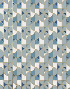 Slice wallpaper featuring a geometric pattern inspired by tile was designed by Heath Ceramics for Hygge & West. Our modern, high quality wallpapers are screen printed by hand in the USA. Large Geometric Wallpaper, Modern Wallpaper, Cool Wallpaper, Pattern Wallpaper, Hygge And West, Heath Tile, Heath Ceramics, Stunning Wallpapers