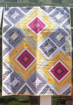 """What luscious colors in this """"Springs Strings"""" quilt by Gail Weiss. Yummy!"""