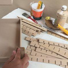 Sanding the wood on this custom nail polish rack I've sold 2 days ago!