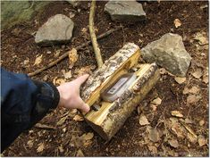 You've got to be kidding me!  LOG geocache (hinged?)