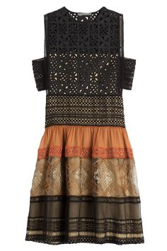 Alberta Ferretti - Cotton Dress with Cut-Out Detail