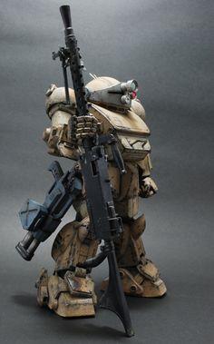Painted and remade by 刀鋒冷 Source via Hong Kong Model League Battle Robots, Combat Armor, Mekka, Sci Fi Armor, Robot Concept Art, Gundam Art, Found Object Art, Super Robot, Mechanical Design