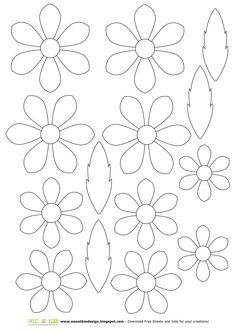 Small paper flower templates amp tutorials full library set of 35 templates catching colorlfies – ArtofitTemplates for creation of flowers from a foamiran: big collection me 27804 r-eYW_dsyrk. Paper flowers available for puCUSTOM Single Felt Flower Felt Flowers, Diy Flowers, Fabric Flowers, Paper Flowers, Diy Paper, Paper Art, Paper Crafting, Applique Patterns, Flower Patterns