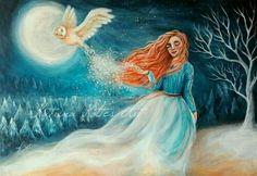 """""""A winter's night"""" acrylic painting by katrina koltes"""