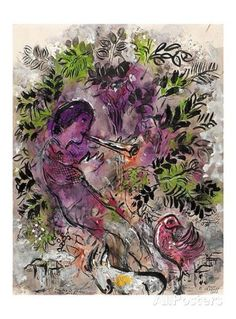 Boy with Flowers Painting By Marc Chagall - Reproduction Gallery Marc Chagall, Artist Chagall, Chagall Paintings, Oil Paintings, Henri Matisse, Folklore Russe, Pablo Picasso, Atelier D Art, Poster Art