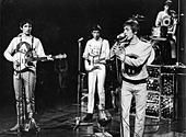 THE WHO on Dutch TV in 1964. From left: John Entwistle, Pete Townshend, Roger Daltry, Keith Moon - Stock Photo