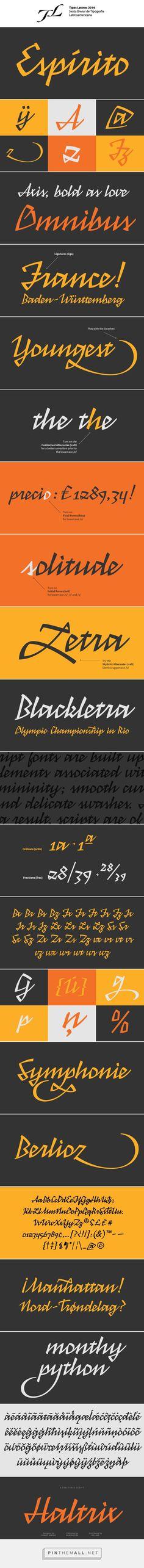 Typeface Haltrix on Behance