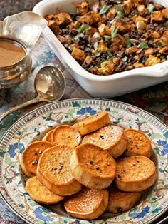 This perfectly seasoned stuffing is sure to become a family tradition. Recipe: Corn Bread and Sausage Stuffing   - CountryLiving.com