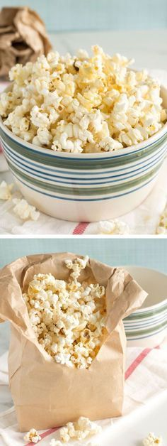 Homemade Sweet and Salty Popcorn   nourishedtheblog.com   Freshly popped popcorn drizzled with butter and honey and vanilla and sea salt is the ultimate in sweet and salty. This popcorn snack is super easy to make and gluten free too! Click for the microwave popcorn at home recipe.