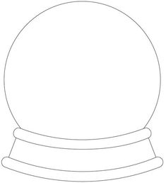 crystal ball coloring pages | 33 best Snow Globes images on Pinterest | Crystal ball ...