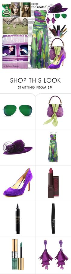"""""""Wedding Guest"""" by christined1960 ❤ liked on Polyvore featuring Pretty Green, Victoria Beckham, de Grisogono, Philip Treacy, INC International Concepts, Burt's Bees, MAC Cosmetics, NYX, Yves Saint Laurent and ShoeDazzle"""