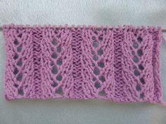 Ажурный узор. Вязание спицами. Knitting(Hobby).