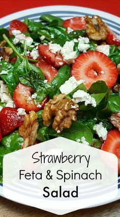 Strawberry Feta Spinach Salad Recipe Don't you just love strawberry season? - Strawberry Feta Spinach Salad Recipe Don't you just love strawberry season? Spinach Salad Recipes, Healthy Salad Recipes, Side Salad Recipes, Summer Salad Recipes, Best Food Recipes, Spinach Meals, Healthy Strawberry Recipes, Lettuce Salad Recipes, Easy Summer Salads