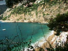 Mala Plage, one of the most beautiful beaches on the Cote d'Azur (French Riviera)