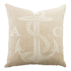 Personalized Anchor Pillow//