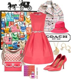 """""""Top Fashion With Coach"""" by mzdiamondgirl ❤ liked on Polyvore"""
