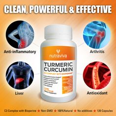 Nutraviva's premium Turmeric is a potent high quality patented blend of Curcumin C3 Complex with Bioperine, proven to increase the bioavailability and absorption of Curcumin. A powerful herb nutrient that aids inflammation, proper liver and heart function, and rich in antioxidants.  http://www.amazon.com/gp/product/B00HMTK8OU/ref=oh_details_o05_s00_i00?ie=UTF8&psc=1