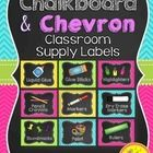 Labels for Classroom Supplies {Chalkboard and Chevron}  Decorate your classroom this year with these chalkboard and chevron styled classroom supply...