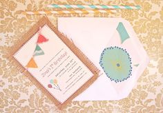 my baby girl's party invitation featured on visual vocabulary!