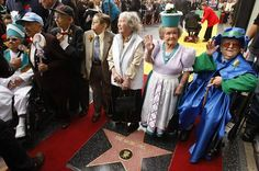 The original Munchkins from the 1939 movie classic The Wizard of Oz receive the 2,3552nd star on the Hollywood Walk of Fame.