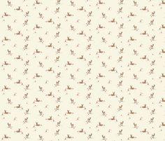 Enchanted Deer fabric by pocketful_of_pinwheels on Spoonflower - custom fabric