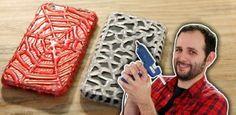 Como fazer capinha de celular com cola quente (muito fácil!)
