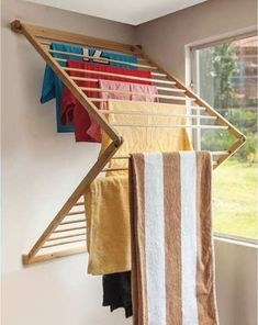 Diy Wall Mounted Clothes Drying Rack Laundry Room Ideas Drying
