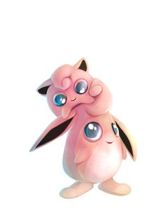 Jigglypuff and Wigglytuff by francis-john.deviantart.com on @deviantART