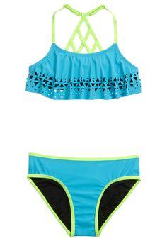 Cut-Out Flounce Bikini Swimsuit