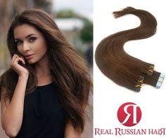 Extensions de cheveux Russes #tapehair #realrussianhair #realrussianhairextension 🍒  #russianhair #realrussianhair #hairextensionspecialist #hairextensions 👸 👩 Best Hair Extensions EVER !! Découvrez le meilleur de l'extensions de cheveux naturel en cheveux Caucasien Russe. https://www.real-russian-hair.com/fr/40-extension-bande