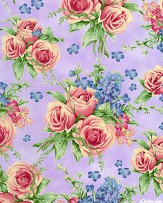 Kaffe Fassett's Quilts in the Cotswolds Quilt fabric online store Largest Selection, Fast Shipping, Best Images, Ship Worldwide Cabbage Rose Bouquet, Cabbage Roses, Vintage Diy, Shabby, Floral Fabric, Floral Prints, Flower Backgrounds, Floral Wallpapers, Decoupage