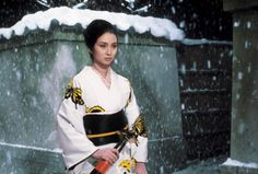 "Actress Meiko Kaji in an early scene from the film ""Lady Snowbood""."