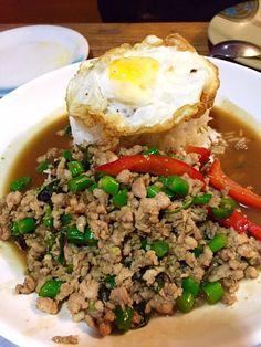 Pad Ka-Prao at Hoy-Ka Thai Noodles #Food #LA