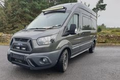 Wellhouse Ford Transit Giant camper van goes big and bold Ford Transit Campervan, Camper Flooring, Cold Weather Camping, Unique Floor Plans, Camper Conversion, Rv Camping, Water Tank, Camper Van, Van Life