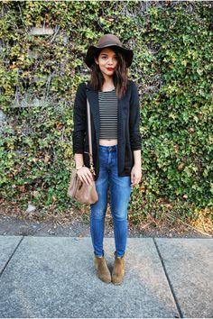 black ruched Charlotte Russe blazer - tan Isabel Marant boots