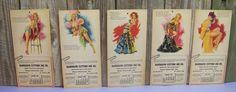5 Vintage 1940s Earl Moran Pin Up Calendar Girl Advertising CARDS MARILYN MONROE #PinupCouture