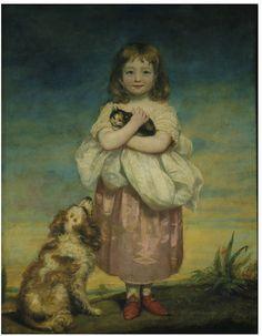James Northcote - A Little girl nursing a kitten, 1795