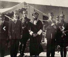 الشيخ خزعل بن جابر الكعبي أمير الأحواز العربية  أثناء الأسر في طهران عام 1925