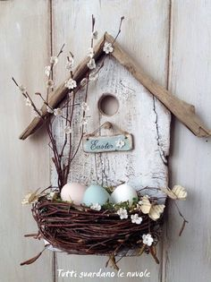 17 Easter Bird House Tutorial