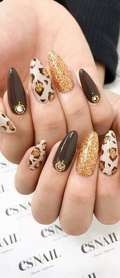 What Christmas manicure to choose for a festive mood - My Nails Fabulous Nails, Gorgeous Nails, Pretty Nails, Leopard Nail Art, Leopard Print Nails, Leopard Nail Designs, Nail Swag, Hot Nails, Hair And Nails