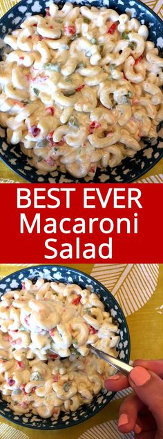 This easy macaroni salad is amazing! Truly the best ever! This is the only macar… This simple macaroni salad is amazing! Really the best ever! This is the only macaroni salad recipe you will ever need! Homemade Macaroni Salad, Chicken Macaroni Salad, Pioneer Woman Macaroni Salad Recipe, Seafood Macaroni Salad Recipe, Maccaroni Salad, Tater Tot Casserole, Tater Tots, Easy Salad Recipes, Easy Mac Salad Recipe