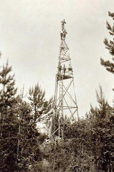 Kolmiomittaustorni 1920-luku. #surveying #maanmittauslaitos