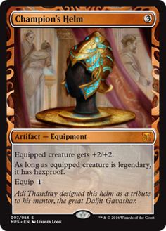 Champion's Helm Masterpiece Series Kaladesh Inventions Magic the Gathering card