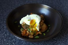 Chard and white bean stew (with a poached egg) - Smitten Kitchen