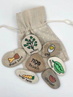 Seder meal story stones passover seder story rocks seder dinner symbols seder plate seder for kids seder for children the passover story activity books lesson plans bundle Passover Story, Seder Meal, Jewish Crafts, Jewish Art, Passover Recipes, Passover Meal, Passover Traditions, Passover Seder Plate, Passover Desserts
