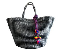 $267 Sensi Studio handmade maxi woven tote fits all your beach basics!