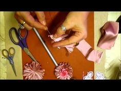 Jennings Crafts Boutique is a very popular channel and known for its down to earth tutorials, excellent service and its amazing Awarding Winning online store. Shabby Chic Flowers, Shabby Chic Cards, Lace Flowers, Fabric Flowers, Daisy Flowers, Decoupage, Hand Embroidery Tutorial, Rose Tutorial, Diy Ribbon
